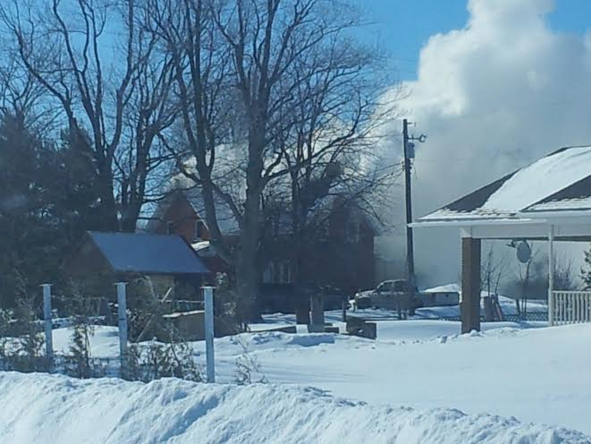 BREAKING – Fire Strikes Bainsville Ontario Residence – March 6, 2014