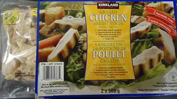 Kirkland Signature Grilled Chicken Breast Strips RECALLED Due to Listeria UPC  0 96619 70787 4