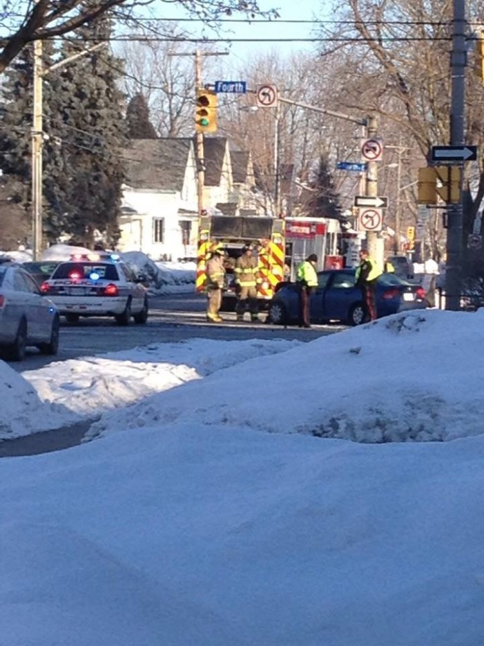 Two Vehicle Collision in Cornwall Ontario – 4th & Sydney – March 6, 2014