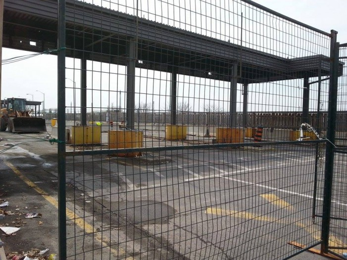 Old Temporary Customs Location Begins Decommissioning in Cornwall Ontario