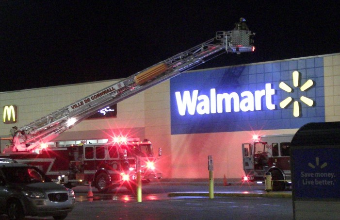 Fire Police & EMS Zoom to Walmart in Cornwall Ontario After Reports of Smoke – April 9, 2014
