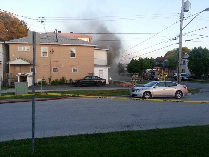 Explosion & Fire Rocks 235 Carleton St. in Cornwall Ontario – Friday May 30, 2014
