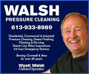 Walsh Pressure Cleaning WEATHER UPDATE for the Cornwall Ontario Area JAN 4, 2015  AM