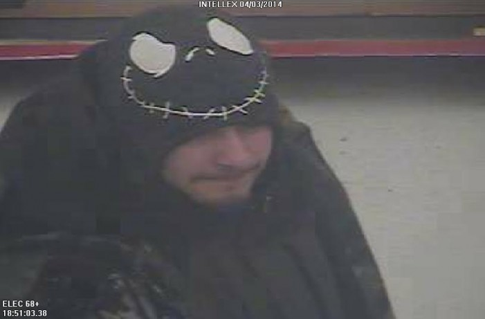 Cornwall Police Service Looking for THIEF – Monday May 26, 2014  CPS
