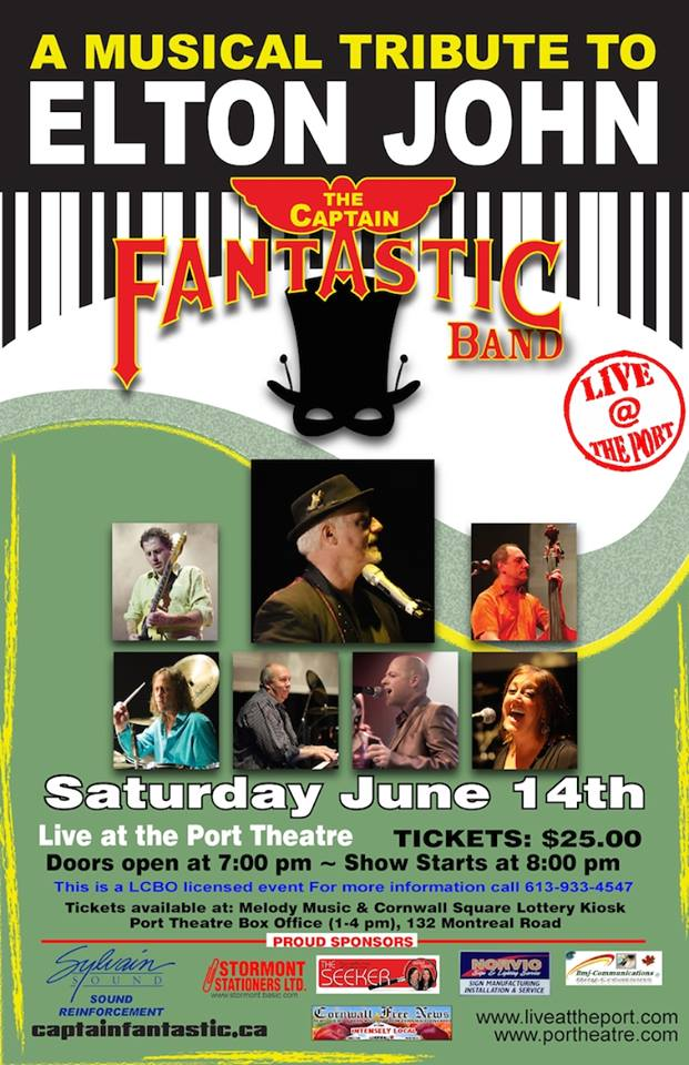 The Captain Fantastic Musical Tribute to Elton John LIVE at The Port in Cornwall Ontario – JUNE 14, 2014
