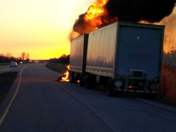Truck Fire Near Lancaster Ontario Put Out Fast Thanks to South Glengarry Fire Department – May 7, 2014