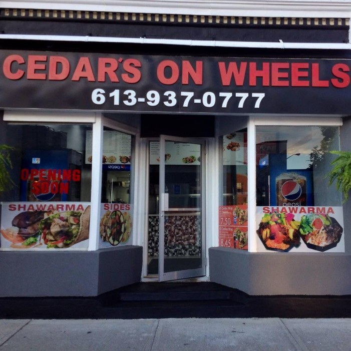 Restaurant Review – Cedar's On Wheels in Cornwall Ontario by Jamie Gilcig – June 26, 2014