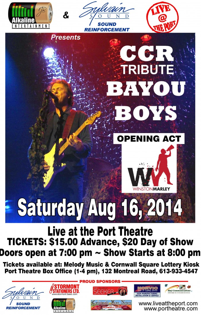 The Port Theatre in Cornwall Ontario Concert Listings for August 2014!