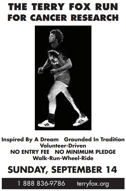 Terry Fox Cancer Run in Cornwall Ontario – Sunday September 14, 2014