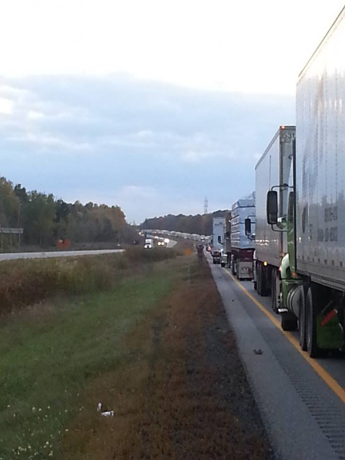 BREAKING – Highway 401 Westbound Shut Down For Two Hours After Massive Accident – Oct 6, 2014