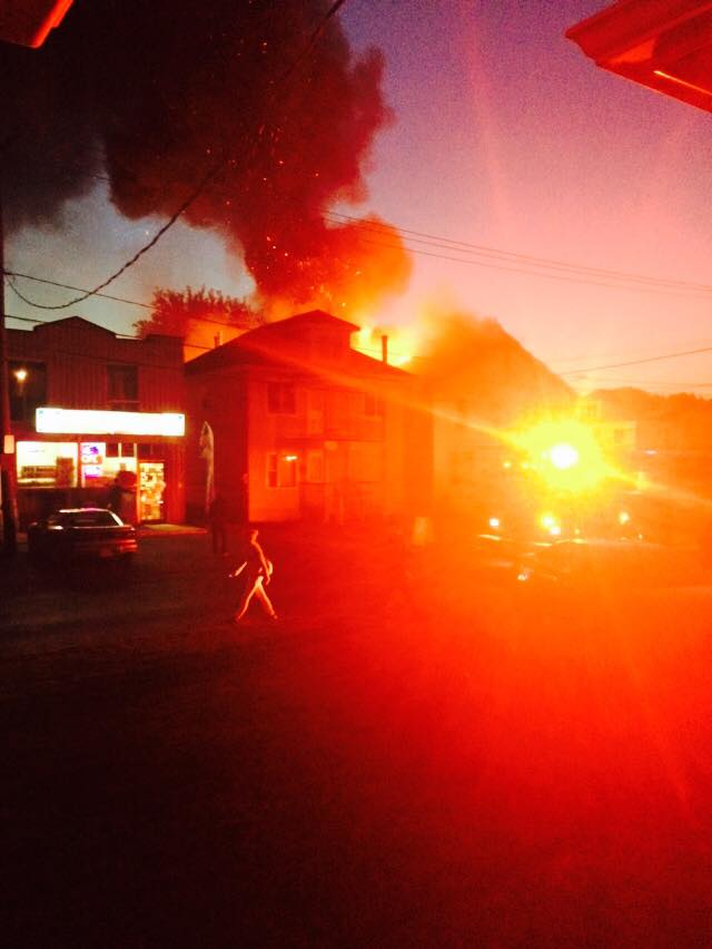 Seaway News Covers Massive Fire at Alice & First in Cornwall Ontario Instead of All Candidates Debate – Oct 1, 2014