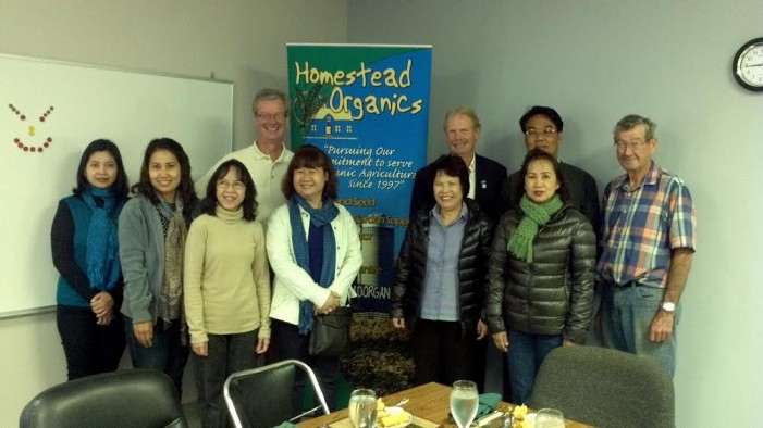 Tom Manley & Homestead Organics Host Overseas Delegation in Morrisburg Ontario – Oct 2, 2014