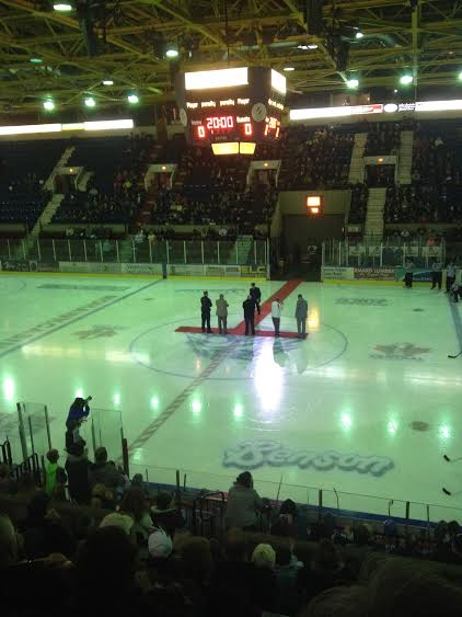 Kilger Booed Twice at River Kings Military Tribute Night in Cornwall Ontario – Oct 26, 2014