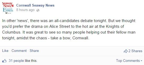 Seaway News Editor Todd Lihou Jokes & Snubs Francophone All Candidates Election