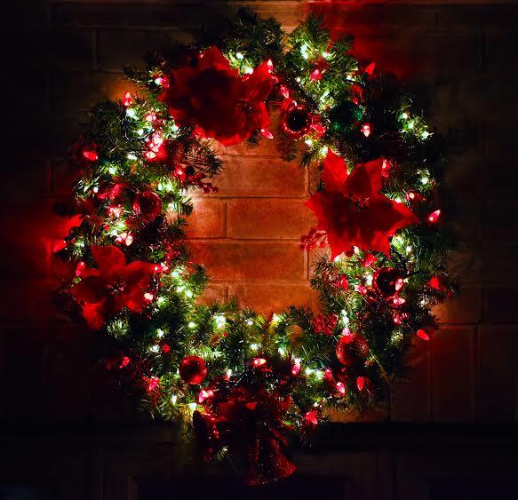 xmas wreath hanson