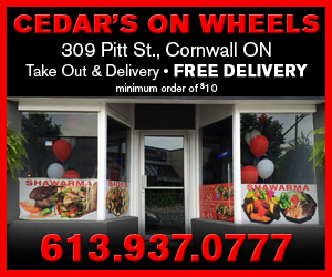 Cedars on Wheels Weather ALERT for Cornwall Ontario  Wind Chill to -35! – Wednesday JANUARY 7th, 2015