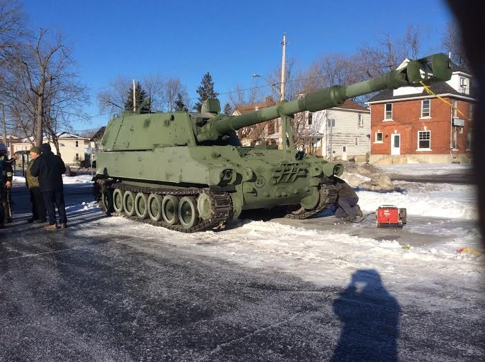 Royal Canadian Legion in Cornwall Ontario Gets a Tank!  PHOTO OF THE DAY Jan 20, 2015