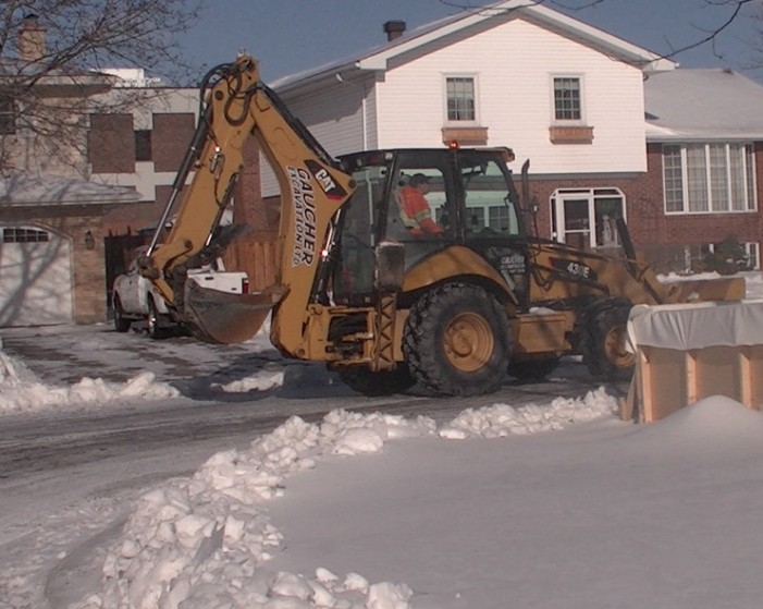 UPDATED City Of Cornwall Ontario Brutally Send In Trucks To Take Down Vincent Rink JAN 5, 2015
