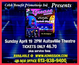Are You Going to GREASEMANIA in Cornwall Ontario on Sunday April 19th?  CLICK FOR DETAILS