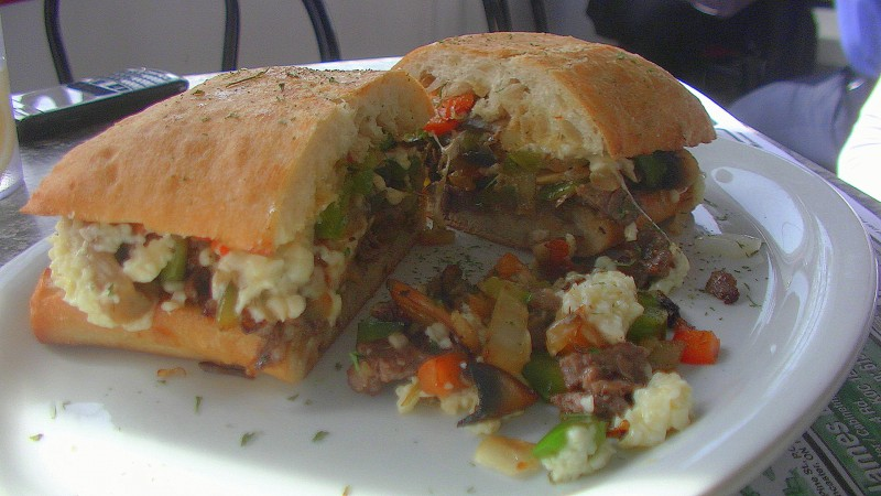 bourdeau steak cheese sand
