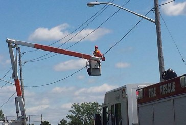 High Winds Tangle Transport Truck on Race Street in Cornwall Ontario – May 20, 2015