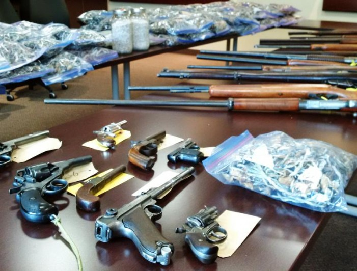OPP Major Seizure of  Guns & Drugs in South Stormont Grow OP JUNE 16, 2015 #OPP