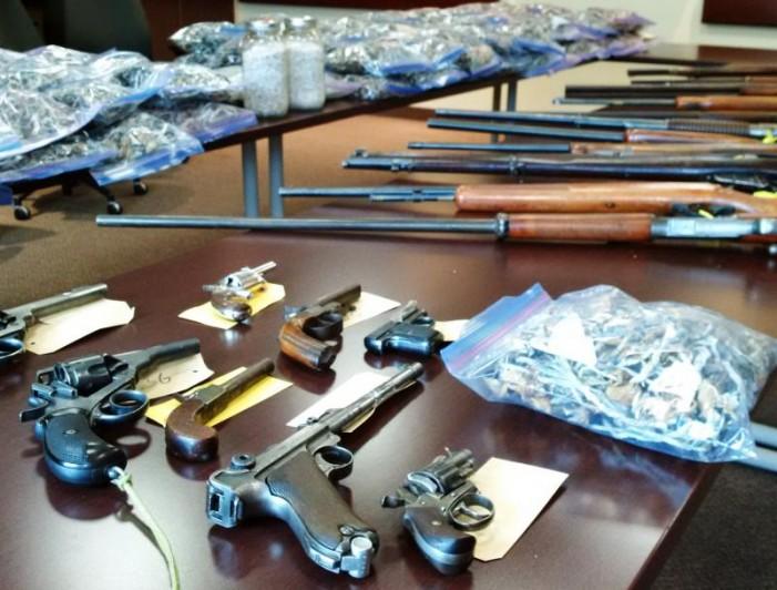 OPP Major Seizure of  Guns & Drugs in South Stormont Grow OP JUNE 16, 2015 #OPP