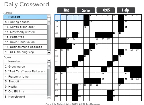 Ambitious image within daily printable crossword
