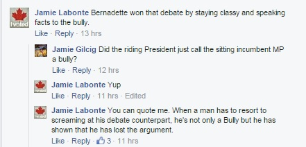 SD&SG Riding President Calls Incumbent MP A Bully on Social Media by Jamie Gilcig OCT 12, 2015