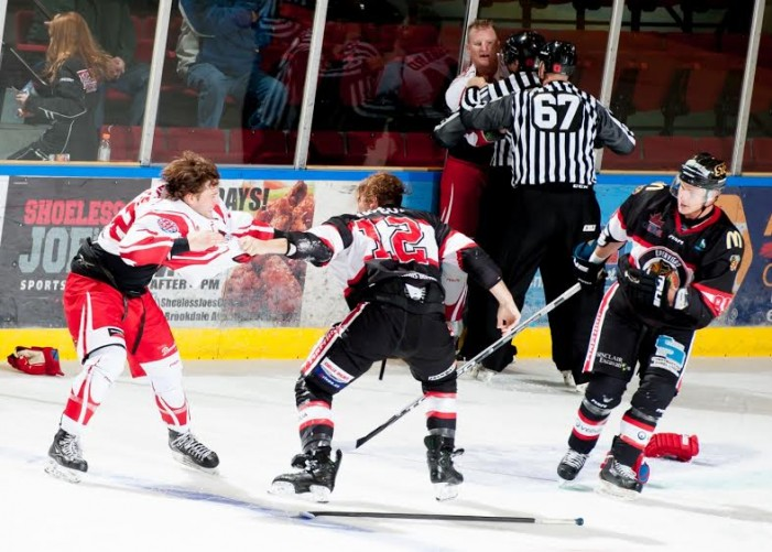 Six Fights in 3-0 Home Loss for Cornwall River Kings – NOV 2, 2015