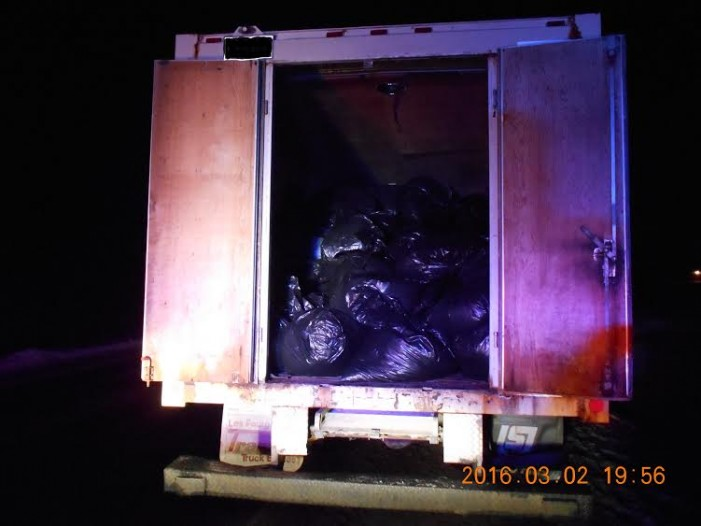 CRTF Makes MAJOR Tobacco Seizure Near Valleyfield Quebec MARCH 10, 2016