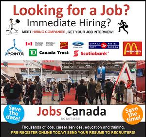 JOBS CANADA Ottawa Job Fair @ Westin Hotel MARCH 15, 2016 Click for Details!
