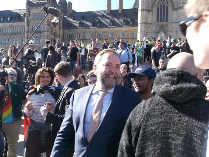 View From the Hill by Keith Beardsley – Is Thomas Mulcair Right About NDP Votes Turning Green?