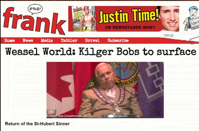 FRANK Breaks Former T Shirt Hating Cornwall Mayor Bob Kilger Now a LOBBYIST