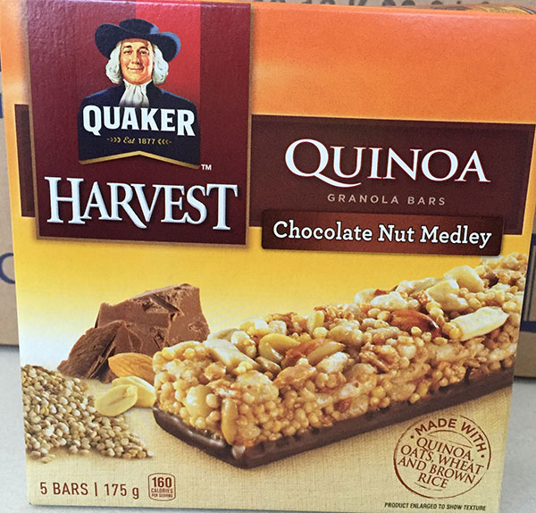 Quaker Harvest Quinoa Granola Bars & Spitz Sunflower Kernels LISTERIA RECALL JUNE 3, 2016