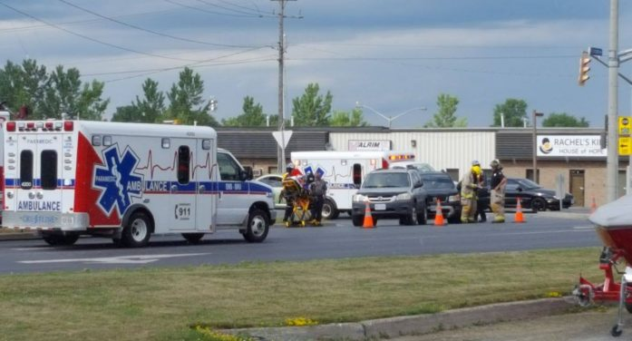 Medical Emergency Incident on Boundary & Marleau in Cornwall Ontario JUNE 28, 2016
