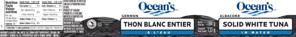 CFIA RECALL Ocean Brand Tuna Due to Leaking Cans JULY 13, 2016