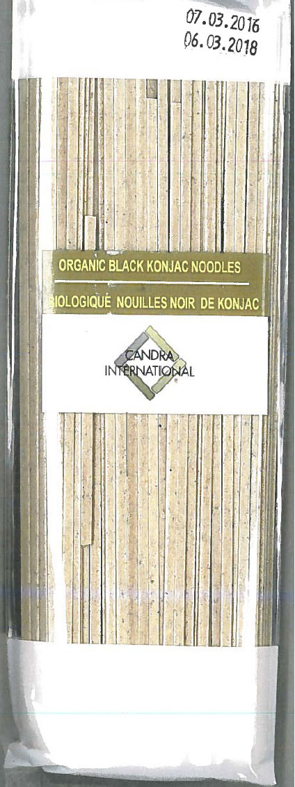 CANDRA ORGANIC BLACK KONJAC Recalled CONTAINS WHEAT July 25, 2016 CFIA