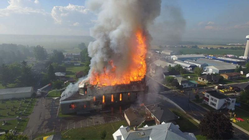 church fire st Isadore FACEBOOK