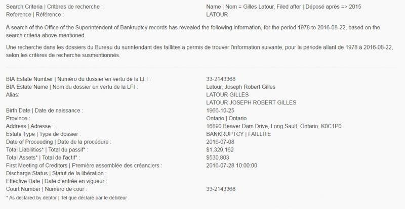 Latour Bankruptcy 1