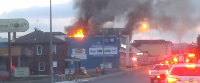 Fire Strikes Montreal Road Apartment in Cornwall Ontario  AUG 21, 2016