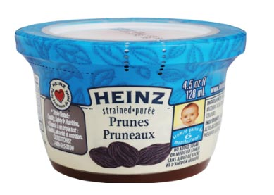 CFIA RECALL  Heinz Strained Prunes SEPT 10, 2016