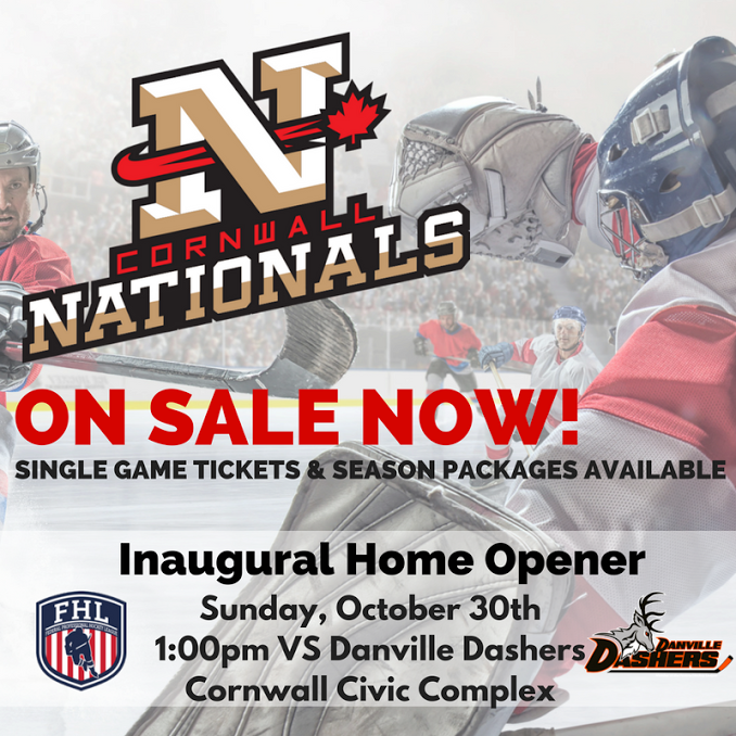 Cornwall Nationals Win First Game at Home in OT Oct. 31, 2016