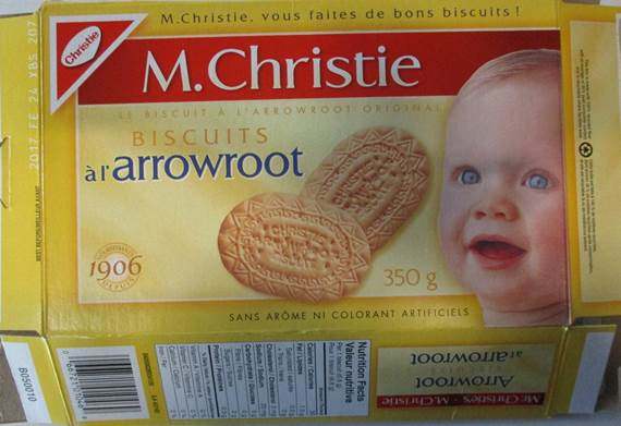 Mr. Christie's Arrowroot Biscuits RECALLED CFIA Oct 22, 2016