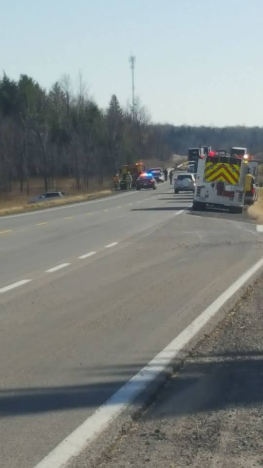 Two Vehicle Collision on Hwy 138 Near Cornwall Ontario  NOV 14, 2016
