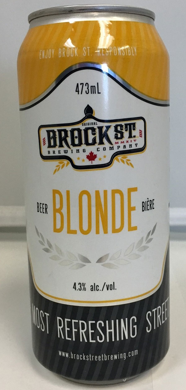 LCBO Recalls BROCK ST. Blonde Beer SWELLING CANS  Nov 8, 2016