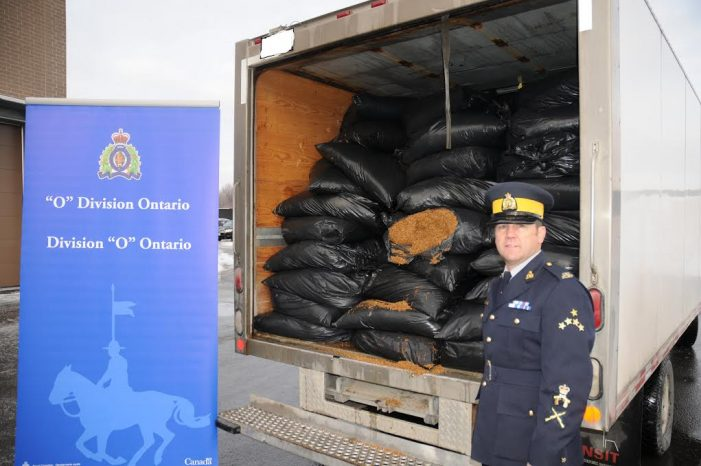 Cornwall Regional Task Force Seizes 3 Tons of Tobacco DEC 23, 2016