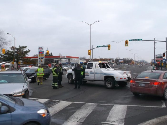 Multi Vehicle Collision at Carling & Maitland in Ottawa by Roy Berger DEC 8, 2016