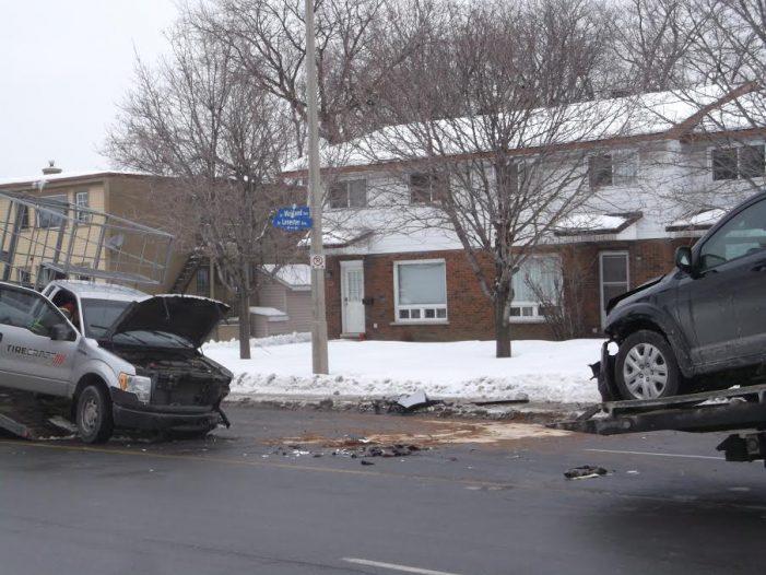 4 Car Collision @ Maitland & Lenester in Ottawa  JAN 10, 2017