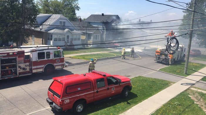 FIRE ENGULFS St. Felix Street House in Cornwall Ontario VIDEO May 17, 2017